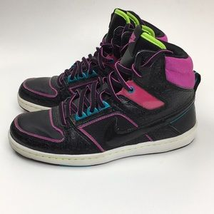 Nike Dunk High Top Black And Pink Faux Snakeskin